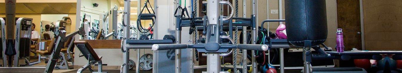 black gym equipment