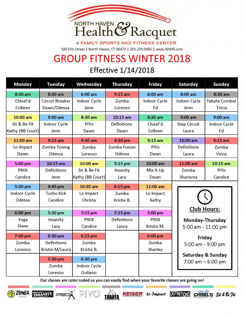 group fitness classes in North Haven, CT