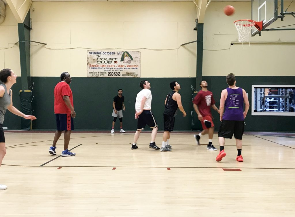 indoor basketball court in North Haven, CT